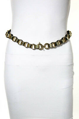 CC Skye Black Gold Chain Link Toggle Closure Belt Size Small