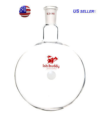 2000mL 24/40 Joint Round Bottom Flask Single Neck Lab Glassware from US