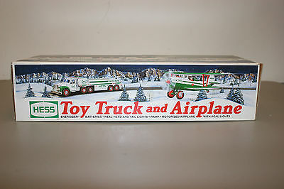 2002 Hess Toy Truck and Airplane. New in Box