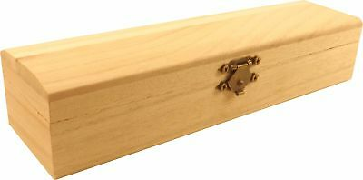 """Unfinished Wood Bracelet/Necklace Box for painting or staining 7.9"""""""
