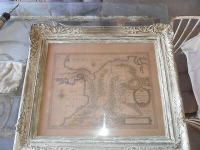 Very old framed Map of soth America
