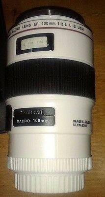 Camera Lens Cup EF Macro 100mm Thermos Travel Tea Coffee Mug Gift cup with Pouch