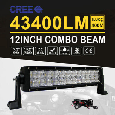 10D Cree Curved 22Inch 1800W Led Light Bar Quad Rows Off Road Driving Lamp 23''