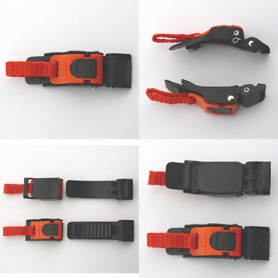 3pcs Echo Quick Release Buckle ATV Motorcyle Bike Helmet Chin Strap Speed Clip