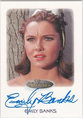 Star Trek Women Of Emily Banks Tonia Barrows The Original Series Tos Autograph