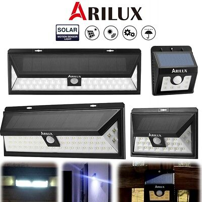 ARILUX LED Solar Power Light Motion PIR Sensor Outdoor Garden Security Wall Lamp