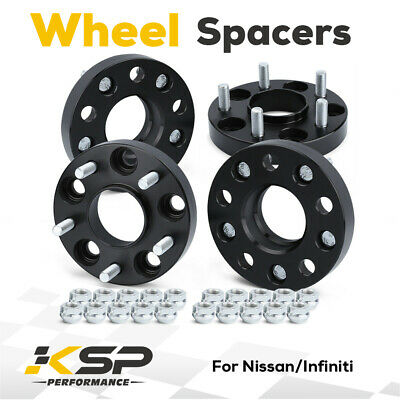 4pcs 25mm 5x4.5(5x114.3mm) Hub centric Wheel Spacers M12X1.25 66.1mm For Nissan