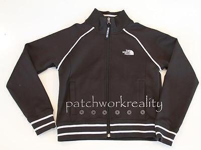 THE NORTH FACE RYAN Black White Zip Down mock Neck Athletic Track Jacket COat M
