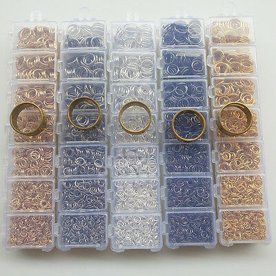 1 Box 7 Sizes Open Jump Ring & Ring Jewelry Keychain Making From 4mm to 10mm