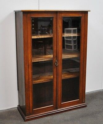 Lovely Antique Rustic Oak & Kauri Pine Bookcase * Display Cabinet