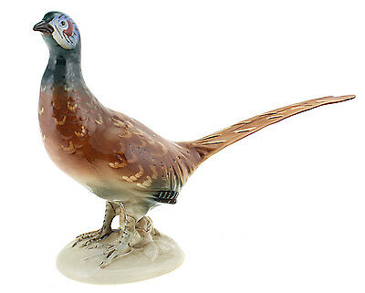 Large Royal Dux Pheasant Figurine