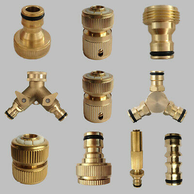 Brass Hose Tap Connector Snap Threaded Garden Water Pipe Adaptor Fitting 10 Type