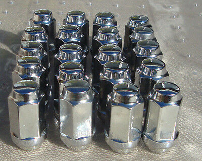 "WHEEL NUTS SET OF 20 CHROME 1/2 INCH X 20  ""USED"" FORD Free POST style B"