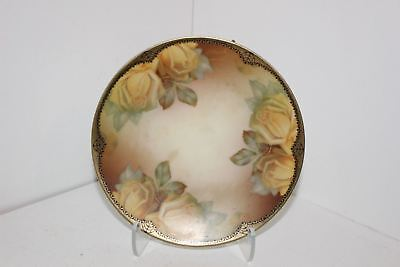 """Vintage Thomas Sevres Bavaria """"riviera"""" Hand Painted 6"""" Cabinet Plate-Gold"""