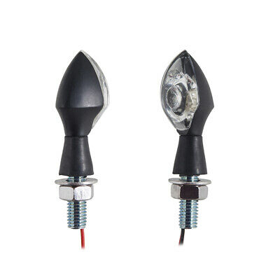 Pair of Micro Bright LED Indicators Universal Motorcycle MotorBike E Marked