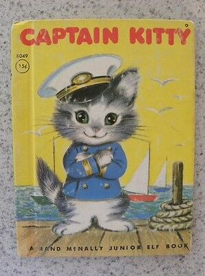 1951 Captain Kitty Cat, Rand McNally Junior Elf 15 Cent Childs Book