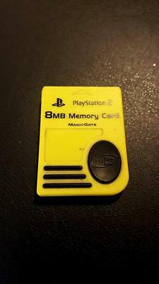 PS2 Playstation 2 8MB Memory Card -- Yellow -- MagicGate