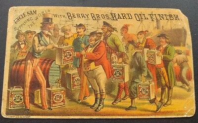 Berry Bros Hard Oil Finish Manufacturers Card 1880s Vintage