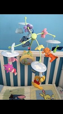 Winnie The Pooh Disney Baby Crib Musical Cot Mobile - Light Up And Music