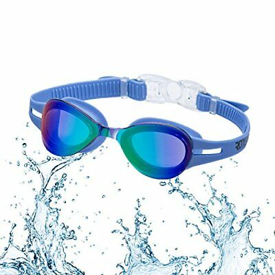 52bbe3f09ba8 Kid Swimming Goggles Roterdon Child Junior Swim Eyes UV Protection Anti Fog  Blue
