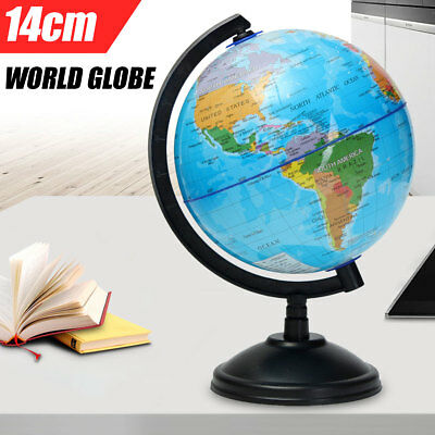14cm World Globe Atlas Map Rotating Earth Geography Educational Toy Room Decor