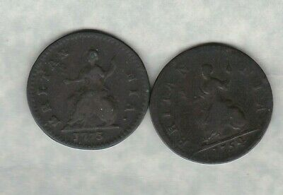 1754 George Ii Farthing In Used Fine Condition