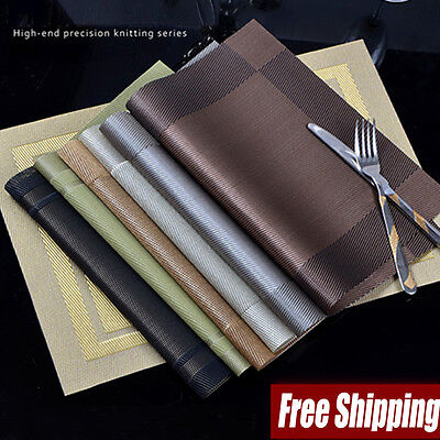 Waterproof Placemats Insulation Mat Table Coasters Kitchen Dining Bar Table Pad