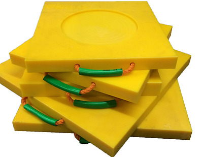 Stabiliser Leg Pads/Crane Pads High Vis 400mmx400mmx40mm (Sold Individually)