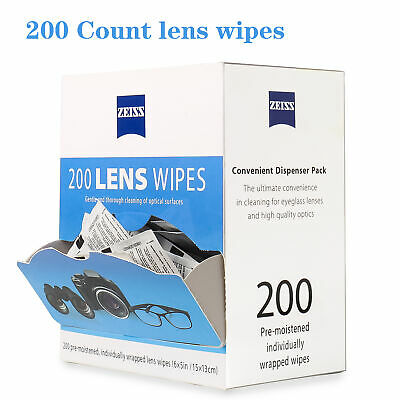 Zeiss Pre-Moistened Lens Cleaning Wipes LED LCD Screen Eyeglasses Camera Phone