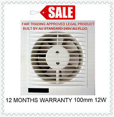 Au Approved Window Fan Wall Fan Whisper Ventilation Exhaust Fan External Shutter