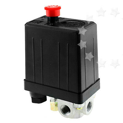 240V Air Regulator Compressor Pressure Control Switch Valve 175 PSI Relief Gauge