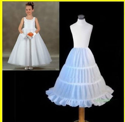 Flower Girl Dress 3-Hoop A-Line Crinoline Petticoat Underskirt Children PETTICOA