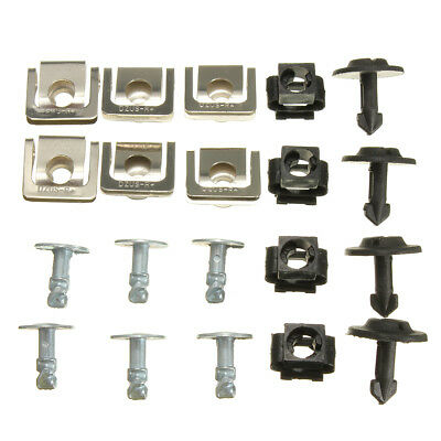 FOR AUDI A4 A6 Undertray Guard Engine Cover Fixing Fitting Clips & Screw KIT SET