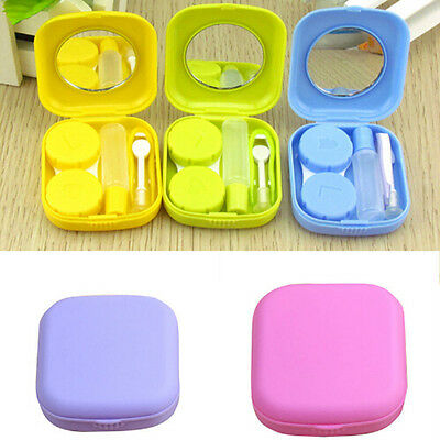 Portable contact Lens Case Kit Voyage facile Mirror Storage Boîte Container