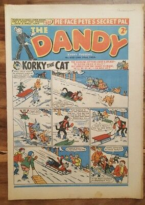 DANDY Comic No. 635 Jan 23rd 1954 ~ Vintage Golden Age ~ ideal birthday present