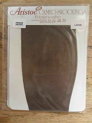 Vintage Aristoc Cameo Stockings Persian Delight 15 Denier Sheer Large Unopened