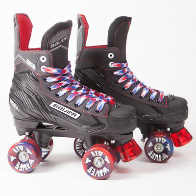Bauer Quad Roller Skates - Vapor X300 S17 - 2017 Model -  Red/Blue Airwaves