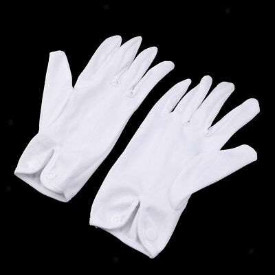 1 Pair White Referee Gloves for Snooker or Pool Lightweight Cotton