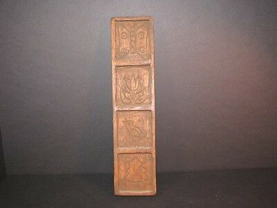Antique Primitive Handcarved Out Of Wood Cookie/candy Mold