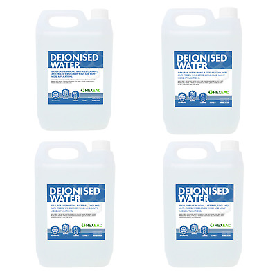 DEIONISED WATER | 20 LITRE (4x 5L) | (De Mineralised/De Ionised/Not Distilled) L