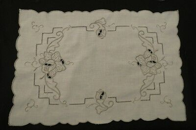 Set of Five Vintage Embroidered Place Mats