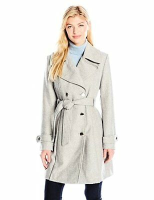 JESSICA SIMPSON OUTERWEAR Womens Wrap Double Breasted Peacoat Pick SZ Color