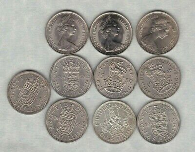 12 Shillings Various Dates From 1948 To 1980 In High Grade