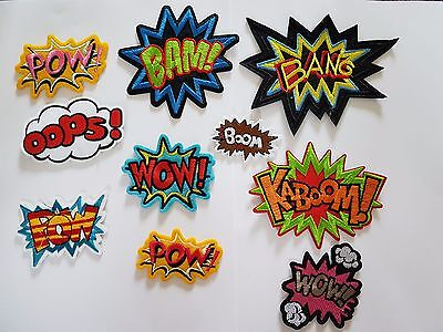 Superhero Movie Comic caption crash Batman style Iron On Patch Sew On Transfer