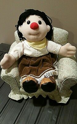 """Big Comfy Couch RARE Molly Doll 16"""" Western Cow Girl"""