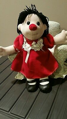 """Big Comfy Couch RARE Molly Doll 16"""" Red Dress"""