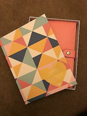 kikki.K A5 Leather Notebook Holder Coral