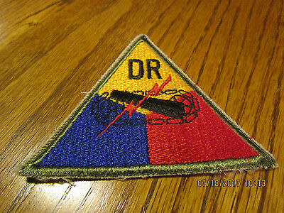 Army DR Armored Tank Battalion Patch