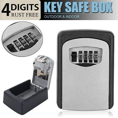 Uk Outdoor Security Steel Wall Mount Key Box Combination Lock/safe Home Car Keys
