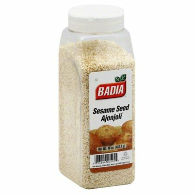 Badia Hulled Sesame Seed Spice, 16 Ounce -- 6 per case.